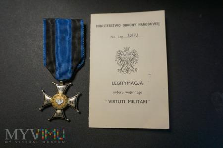 Legitymacja do Orderu Virtuti Militari + Order
