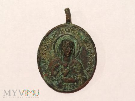 Duże zdjęcie Medalik Najświętsze Serce Marii/Jezusa