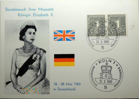 Niemcy Elżbieta II 1965 KOLN