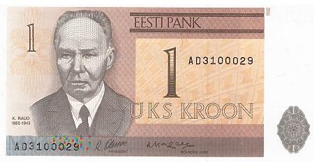 Estonia - 1 korona (1992)