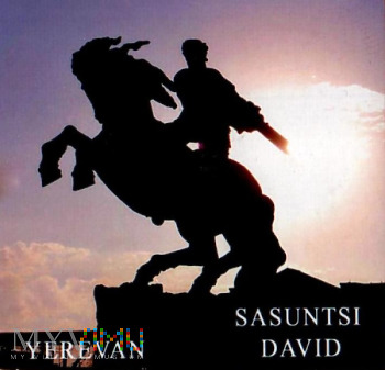 Duże zdjęcie Magnes z pomnikiem Dawida z Sasunu w Erywaniu