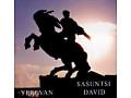 Magnes z pomnikiem Dawida z Sasunu w Erywaniu