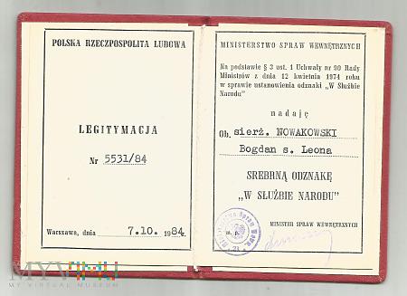 B.Nowakowski - legitymacja