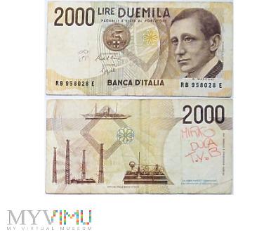 Duże zdjęcie 2 000 Lire, 1990