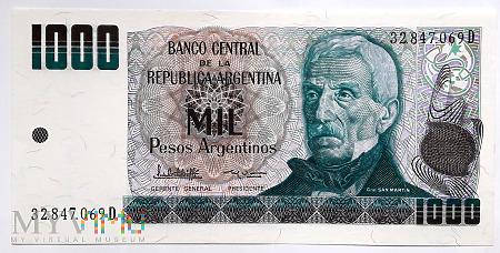 Duże zdjęcie Argentyna 1000 pesos argentinos 1983