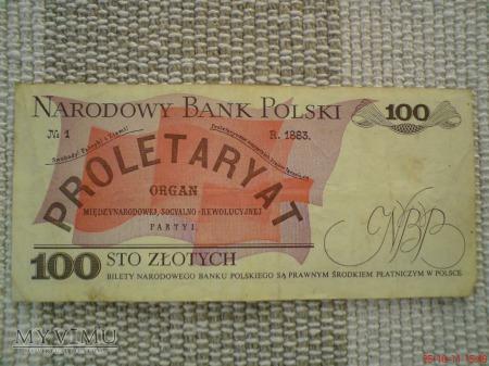 100 złotych 1986 r.