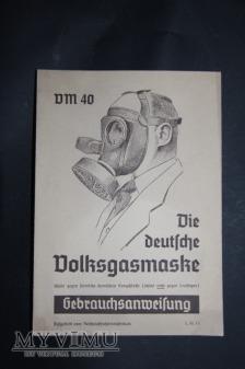 Instrukcja do maski gazowej AM 40