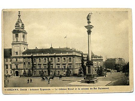 Warszawa Zamek i kolumna Zygmunta