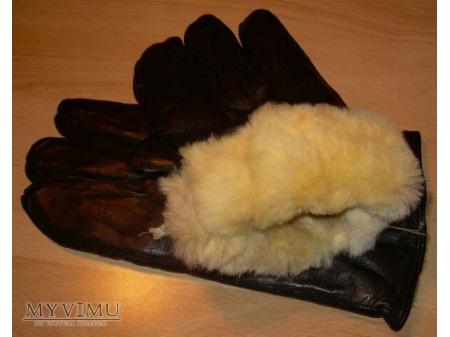 Rękawice skórzane czarne