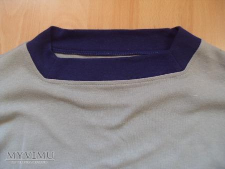 Koszulka z długimi rękawami i lamówką szara