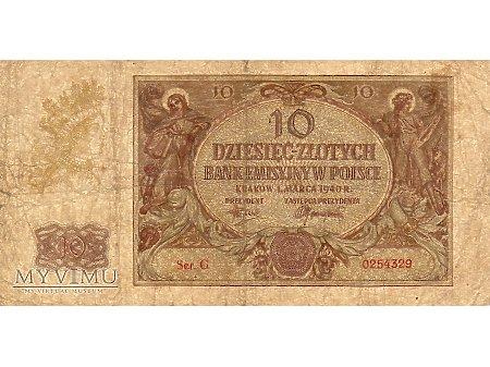 10 Złotych 01.03.1940 r.