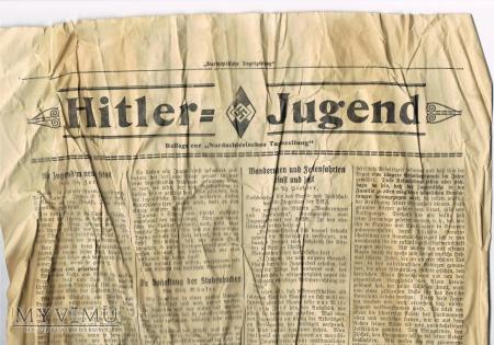 Dodatek do gazety Hitler-Jugeng 1933 rok.