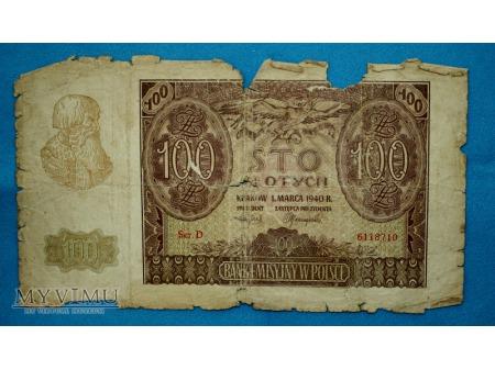 100 Złotych 1940