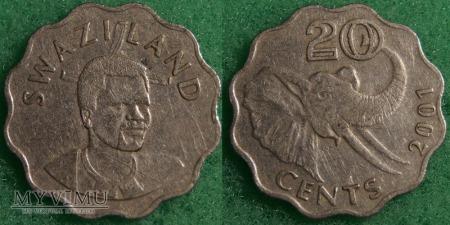 Suazi, 20 centów 2001