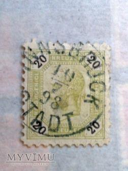 Franz Joseph 1891/96 20 Krajcar austro-węgierski