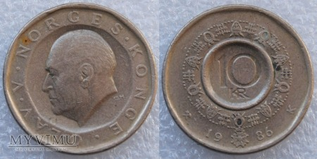 Norwegia, 10 Kroner 1986