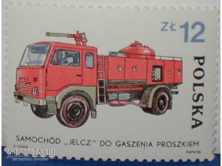 Wóz strażacki Jelcz.