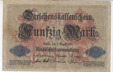 Banknot 50 Marek - ROK 1914
