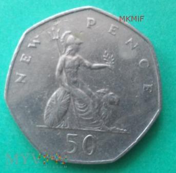 50 New Pence Wielka Brytania