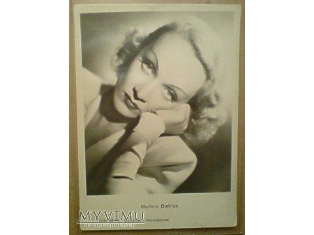Marlene Dietrich pocztówka Czechosłowacja