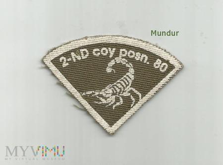 Oznaka misyjna 2-nd coy posn.80