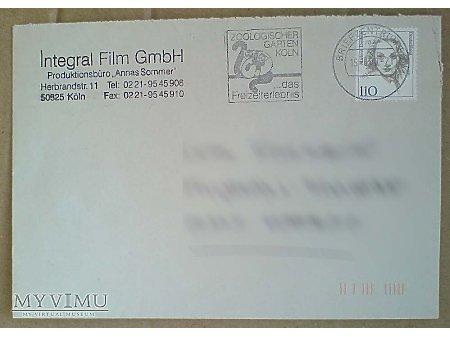 Duże zdjęcie Marlene Dietrich Koperta ze znaczkiem