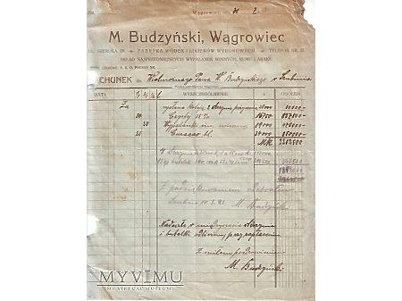 M.Budzyński Wągrowiec 1923
