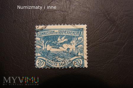 śląskie znaczki plebiscytowe za 20 fenigów