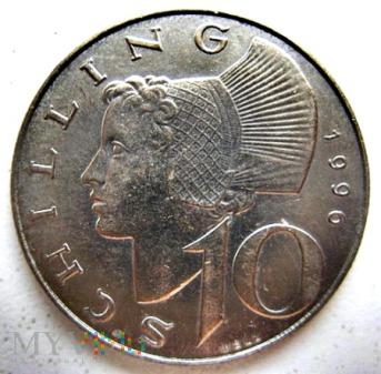 10 szylingów 1996 r. Austria