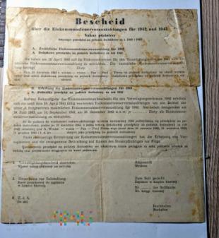 Nakaz płatniczy1942 rok - 1945