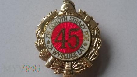 Odznaka Za Wysługę 45 Lat ZOSP - jasna emalia