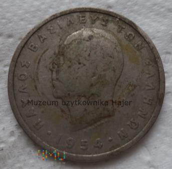 Grecja - 5 drachm - 1954 rok