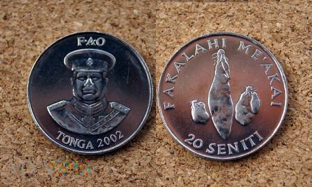 Tonga, 20 Seniti 2002