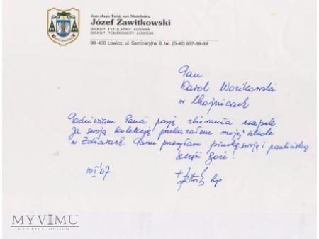 List od Biskupa Józefa Zawitkowskiego