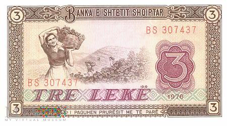 Albania - 3 leki (1976)