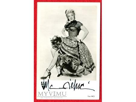 Marlene Dietrich 1952 autograf MARLENA