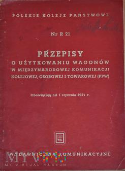 R21-1954 Przepisy o wagonach w komunikacji PPW