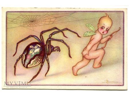 Adolfo BUSI PAJĄK spider ART DECO Postcard