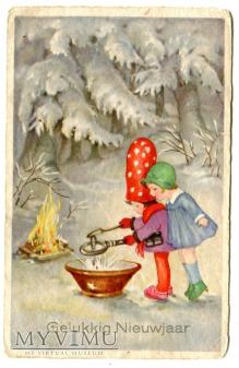 Noworoczne wróżby - skrzaty, dzieci i Nowy Rok