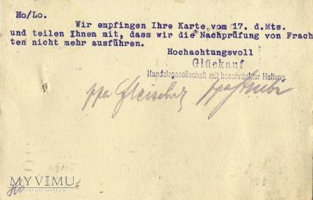 Gluckauf Konigsberg 1922 r.