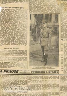 Wyrwana strona z niemieckiej gazety.