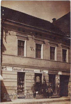Wągrowiec - sklep i piekarnia przy rynku 1910 rok