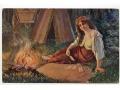 Kroj - Cyganka przy ognisku - 1921