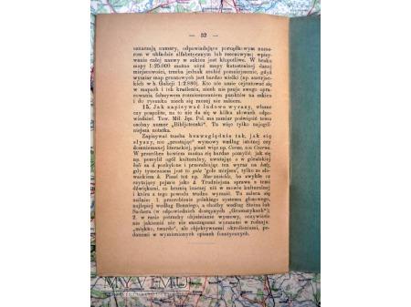Wskazówki do zbierania nazw geograficznych 1923 r.