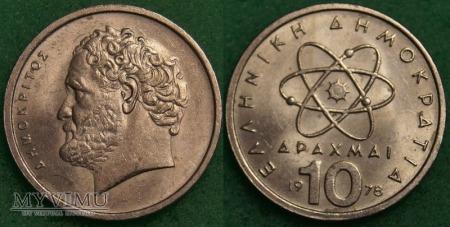 Grecja, 10 Drachm 1978