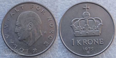 Norwegia, 1 Krone 1975