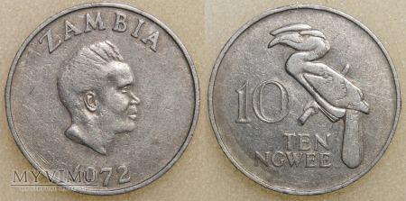 Zambia, 10 Ngwee 1972