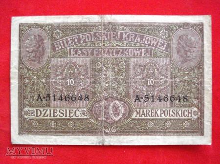 10 marek polskich 1916 rok