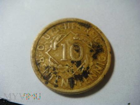 10 Rentenpfennig 1924 A ,Republika Weimarska