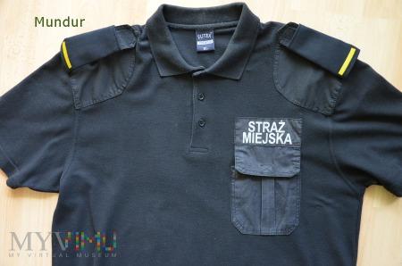 Duże zdjęcie Koszulka polo Straży Miejskiej - czarna